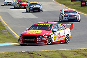 Scott McLaughlin & Alexandre Prémat (Shell Penske Ford) leading Van Gisbergen/Campbell Holden. Wilson Security Sandown 500. 2017 Virgin Australia Supercars Championship Round 10. Sandown International Raceway, Melbourne 17 September 2017. Photo Clay Cross / photosport.nz