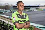 Udoka Godwin-Malife signs a contract for Forest Green Rovers at the New Lawn, Forest Green, United Kingdom on 24 January 2019.