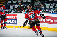KELOWNA, CANADA - NOVEMBER 26: Nick Merkley #10 of the Kelowna Rockets warms up against the Regina Pats on November 26, 2016 at Prospera Place in Kelowna, British Columbia, Canada.  (Photo by Marissa Baecker/Shoot the Breeze)  *** Local Caption ***
