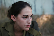 Portrait of a young female Israeli soldier Model Release available