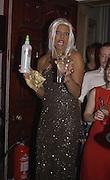 D'Arcy, Miss Archer. Julian Macdonald  fashion show, Le Meridien Grosvenor House. After party, Il Bottaccio, Grosvenor Place. London. 14 September 2002. © Copyright Photograph by Dafydd Jones 66 Stockwell Park Rd. London SW9 0DA Tel 020 7733 0108 www.dafjones.com