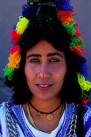 Maroc - Haut Atlas - Vallée du Dadès - El Kelaâ M'Gouna - Fête des Roses - Femme Berbere