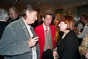 DANNY MOYNIHAN; DUGGIE FIELDS; NELL CAMPBELL, Book launch party for the paperback of Nicky Haslam's book 'Sheer Opulence', at The Westbury Hotel. London. 21 April 2010