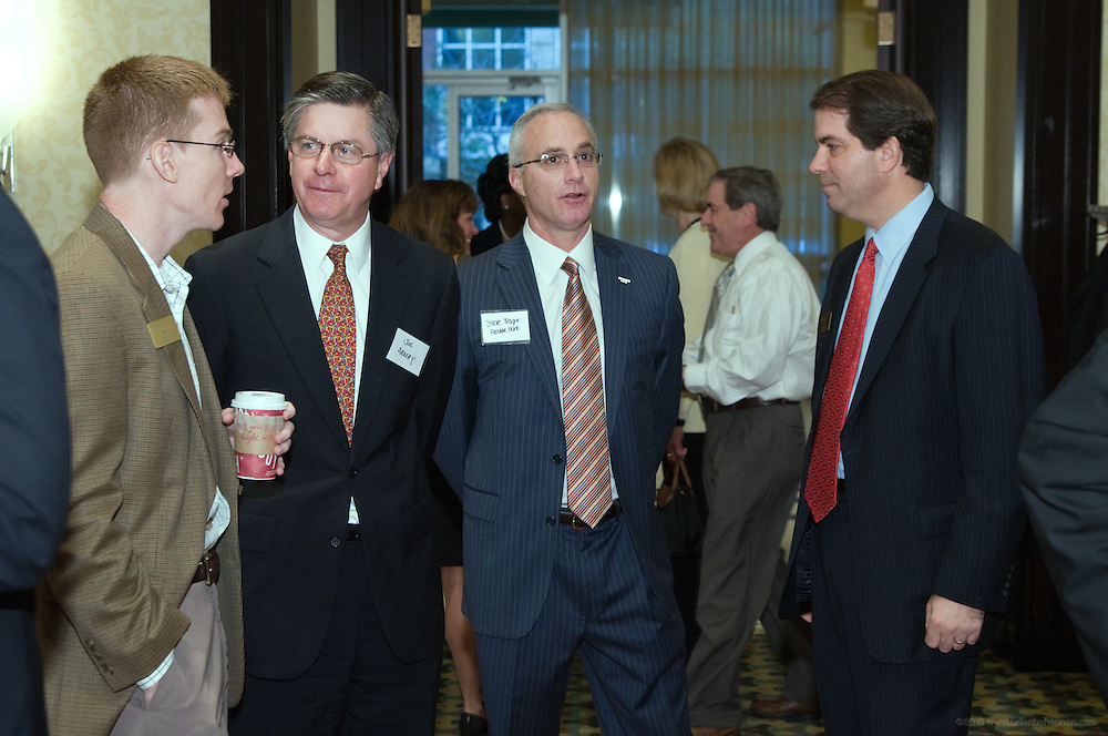 An ACG Kentucky Breakfast Meeting featuring Congressman John Yarmuth (KY-3), discussing how healthcare reform has impacted M&A markets this year and what the industry can expect going forward, Tuesday, Nov. 10, 2009 at the Louisville Marriott Downtown in Louisville, Ky. Speakers also included Rob Hawkins, Vice President of Healthcare Equity Research at Stifel Nicolaus and Rich Tinsley, Chief Development Officer with ResCare, Inc. (Photo by Brian Bohannon)