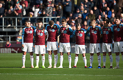 Burnley during a remembrance minutes silence - Mandatory by-line: Jack Phillips/JMP - 28/10/2018 - FOOTBALL - Turf Moor - Burnley, England - Burnley v Chelsea - English Premier League