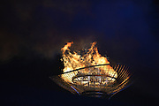 16.08.2014. Nanjing, China. The cauldron is lit up during the Nanjing 2014 Youth Olympic Games opening ceremony in Nanjing, capital of east Chinas Jiangsu Province.