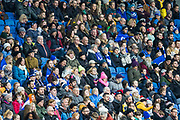 Brighton & Hove Albion FC Women supporters during the FA Women's Super League match between Brighton and Hove Albion Women and Birmingham City Women at the American Express Community Stadium, Brighton and Hove, England on 17 November 2019.