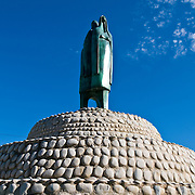 Statue in downtown Zihuatanejo, Mexico. Plaque reads: Fuente Cihuatlan | Angel Agurre Rivero