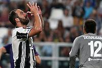 20.08.16, TORINO, JUVENTUS STADIUM, Serie A 1a Giornata,  JUVENTUS-FIORENTINA 2-1 - nella foto: Gonzalo Higuain - Juventus