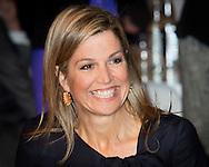 Amsterdam 23-02-2016<br /> <br /> Queen Maxima attends a meeting of NL Grows.<br /> <br /> <br /> <br /> <br /> COPYRIGHT ROYALPORTRAITS EUROPE/ BERNARD RUEBSAMEN
