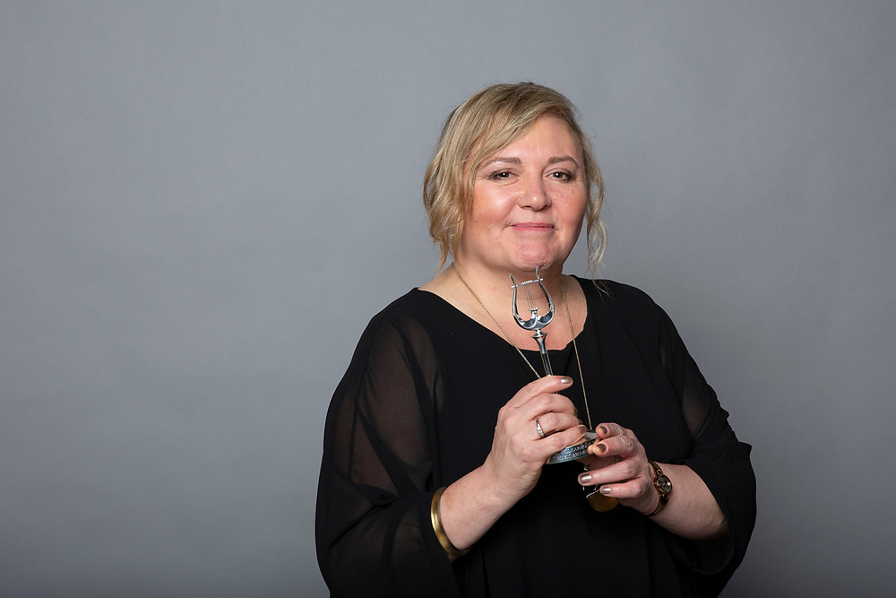 Belinda McFarlane of the London Symphony Orchestra<br /> Winners of the RPS Music Award for Concert Series and Festivals for This is Rattle<br /> Photographed at the RPS Music Awards, London, Wednesday 9 May<br /> Photo credit required:  Simon Jay Price<br /> www.rpsmusicawards.com  #RPSMusicAwards