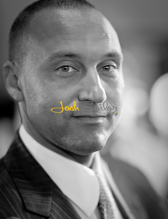 Black & White Portrait of Derek Jeter