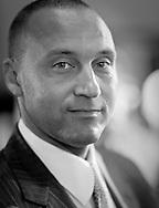Black & White Portrait of Derek Jeter