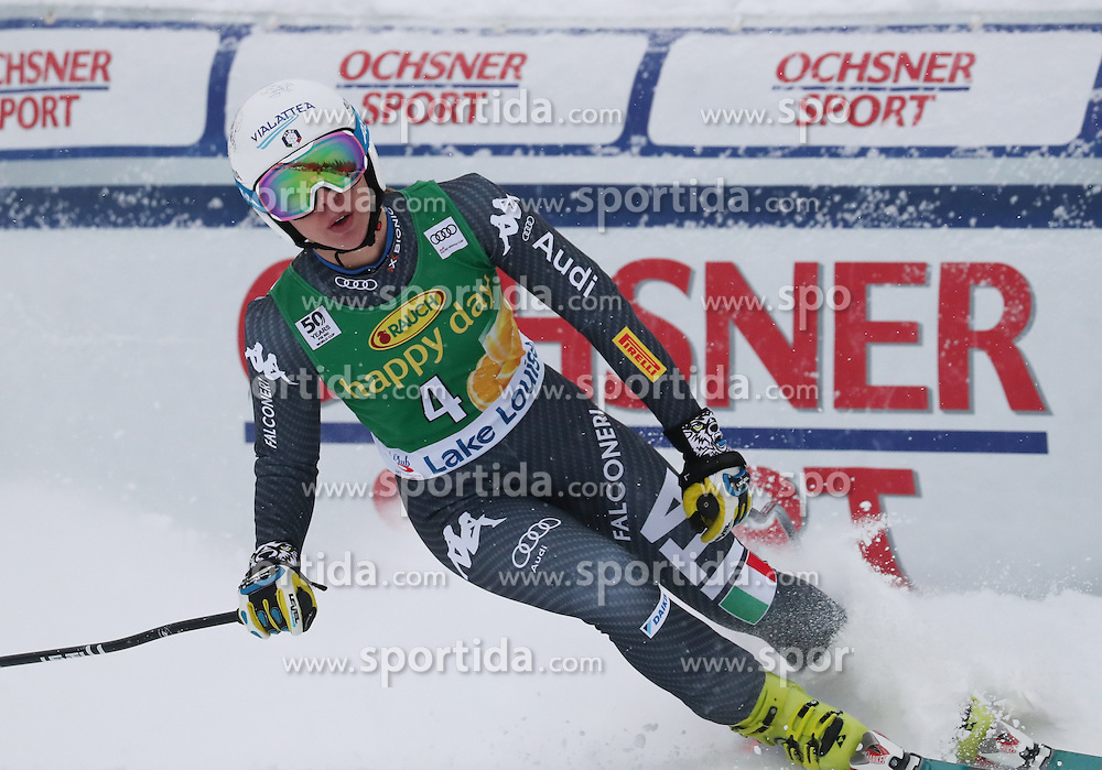 04.12.2016, Lake Louise, USA, FIS Weltcup Ski Alpin, Lake Louise, Super G, Damen, im Bild Federica Brignone (ITA) // Federica Brignone of Italy reacts after her run of the women's SuperG of the Lake Louise FIS Ski Alpine World Cup at the Lake Louise, United Staates on 2016/12/04. EXPA Pictures &copy; 2016, PhotoCredit: EXPA/ SM<br /> <br /> *****ATTENTION - OUT of GER*****