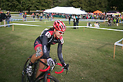 Rebecca Blatt competes in the Elite Women's race at the Ellison Park Cyclocross Festival in Rochester on Saturday, October 11, 2014.