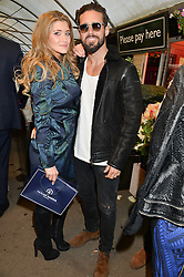 SPENCER MATTHEWS and LAUREN HUTTON at a party to celebrate the launch of the Taylor Morris Eyewear's Summer Collection held at The Chelsea Gardner, 125 Sydney Street, London on 20th May 2015.