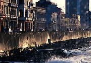 El Malecon, Havana, Cuba. 1991