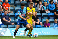 Joe Jacobson of Wycombe Wanderers takes on James Clarke of Bristol Rovers - Mandatory by-line: Robbie Stephenson/JMP - 18/08/2018 - FOOTBALL - Adam's Park - High Wycombe, England - Wycombe Wanderers v Bristol Rovers - Sky Bet League One