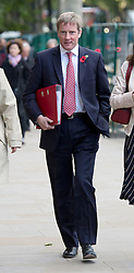 © London News Pictures. 29/10/2013 . London, UK.  TONY COCKER, chief executive of E.ON UK, arriving at Portcullis house in Westminster, London where he and other bosses from the UK's leading energy companies are due to face questions from the Energy and Climate Change Committee about energy price rises. Photo credit : Ben Cawthra/LNP