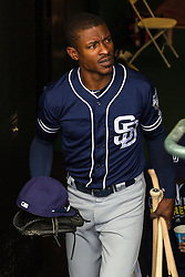 SAN FRANCISCO, CA - MAY 25: Melvin Upton Jr. #2 of the San Diego Padres enters the dugout before the game against the San Francisco Giants at AT&T Park on May 25, 2016 in San Francisco, California. The San Francisco Giants defeated the San Diego Padres 4-3 in 10 innings. (Photo by Jason O. Watson/Getty Images) *** Local Caption *** Melvin Upton Jr.