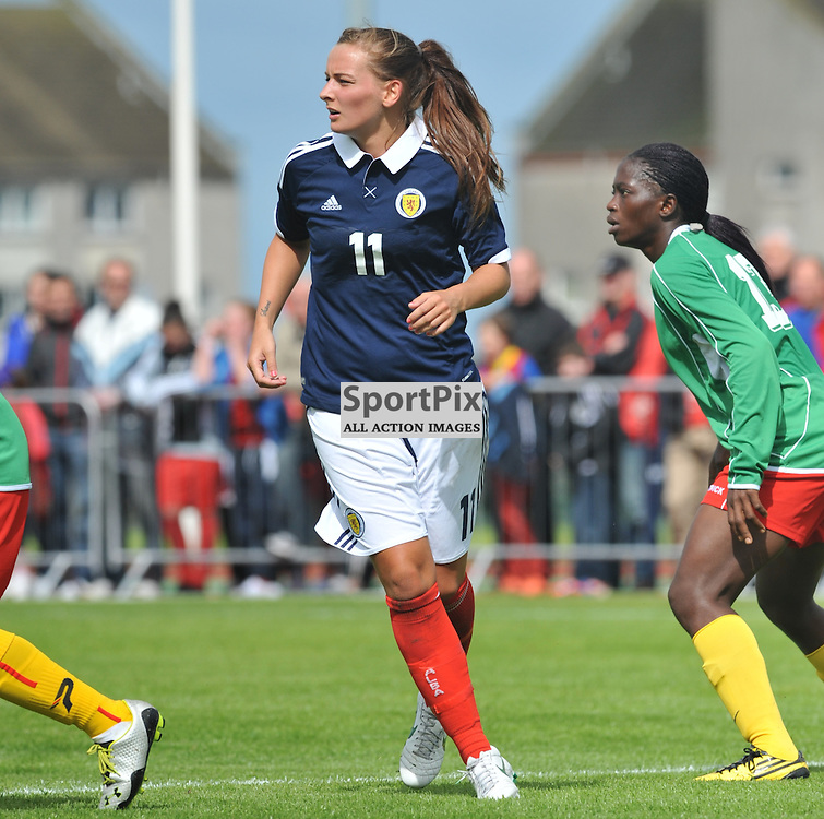 Scotland's Suzanne Grant during the Cameroon vs Scotland in pre Olympic warm up match. 15th July 2012.