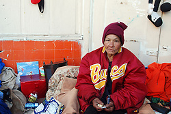 """Shorty,"" in the doorway she has occupied in front of the Victory Mission on Soledad Street. On Thursday, Salinas city workers, health officials and police conducted an early morning sweep of the Chinatown homeless population, removing all encampments on the street."