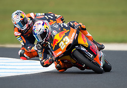 October 21, 2017 - Melbourne, Victoria, Australia - Italian rider Niccolo Antonelli (#23) of Red Bull KTM Ajo in action during the third free practice session at the 2017 Australian MotoGP at Phillip Island, Australia. (Credit Image: © Theo Karanikos via ZUMA Wire)