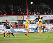 Christian Nade opens the scoring for Dundee - Dundee v Dumbarton, SPFL Championship, Helicopter Saturday at Dens Park<br /> <br />  - &copy; David Young - www.davidyoungphoto.co.uk - email: davidyoungphoto@gmail.com