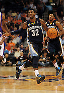 Nov. 5 2010; Phoenix, AZ, USA; Memphis Grizzlies guard O.J. Mayo (32) handles the ball during the first half against the Phoenix Suns at the US Airways Center. Mandatory Credit: Jennifer Stewart-US PRESSWIRE.