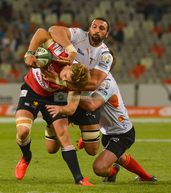 Jaco van der Walt of the Lions and Uzair Cassiem of the Free State Cheetahs  during the Currie Cup Premier division match between the The Free State Cheetahs and the Lions held at Toyota Stadium (Free State Stadium), Bloemfontein, South Africa on the 15th September 2016<br /> <br /> Photo by:   Frikkie Kapp / Real Time Images
