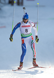 Christian de Lorenzi of Italy during the Men 20 km Individual of the e.on IBU Biathlon World Cup on Thursday, December 16, 2010 in Pokljuka, Slovenia. The fourth e.on IBU World Cup stage is taking place in Rudno Polje - Pokljuka, Slovenia until Sunday December 19, 2010.  (Photo By Vid Ponikvar / Sportida.com)