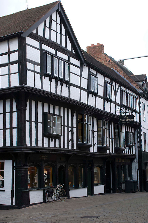 The Abbot's House in Butcher's Row, Shrewsbury town, Shropshire, England