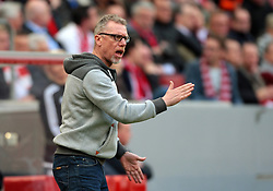 10.04.2016, Rhein Energie Stadion, Koeln, GER, 1. FBL, 1. FC Koeln vs Bayer 04 Leverkusen, 29. Runde, im Bild Cheftrainer Peter Stoeger (1. FC Koeln) // during the German Bundesliga 29th round match between 1. FC Cologne and Bayer 04 Leverkusen at the Rhein Energie Stadion in Koeln, Germany on 2016/04/10. EXPA Pictures © 2016, PhotoCredit: EXPA/ Eibner-Pressefoto/ Hommes<br /> <br /> *****ATTENTION - OUT of GER*****