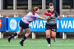 Cardiff Blues Ladies v Ospreys' women<br /> <br /> Photographer Craig Thomas/Replay Images<br /> <br /> Regional Championship - Cardiff Blues v Ospreys Women - Sunday 15th January 2018 - Sardis Road - Pontypridd<br /> <br /> World Copyright © Replay Images . All rights reserved. info@replayimages.co.uk - http://replayimages.co.uk