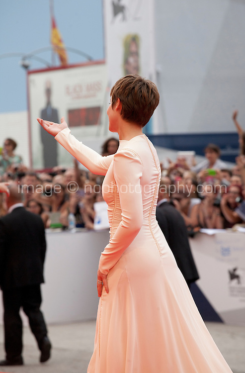 Actress Lou de Laage  at the gala screening for the film L'attesa at the 72nd Venice Film Festival, Saturday September 5th 2015, Venice Lido, Italy.
