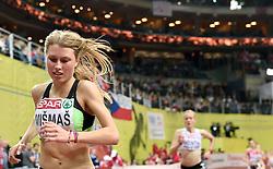07-03-2015 CZE: European Athletics Indoor Championships, Prague<br /> Marusa Mismas SLO in final of 3000 m