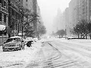 Digging out on Park Avenue at 81st street during the start of the blizzard of January 2016.