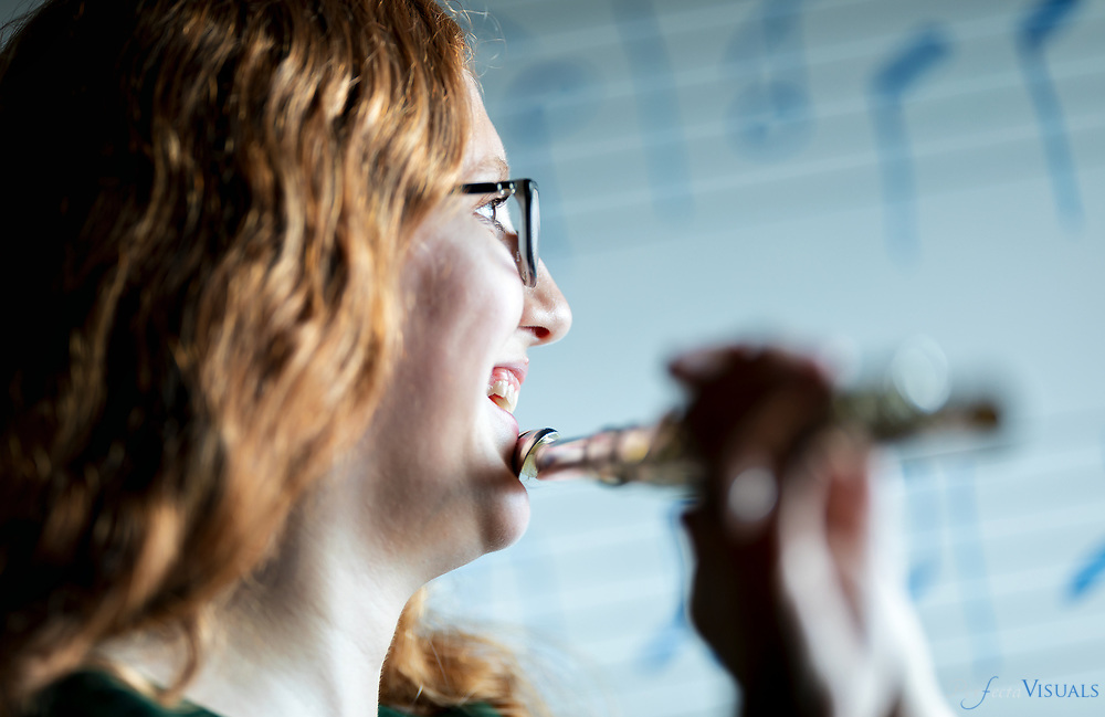 Victoria Epps is a senior at Penn-Griffin School of the Arts in High Point. She has played the flute since the 6th grade, when she first enrolled at Penn-Griffin. She sees the band room as her home -- or in her words, &quot;Home, Sweet Home.&rdquo;<br /> <br /> Photographed, Monday, May 21, 2018, in Greensboro, N.C. JERRY WOLFORD and SCOTT MUTHERSBAUGH / Perfecta Visuals