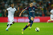 Paris Saint Germain's Argentinian forward Angel Di Maria vies during the French championship L1 football match between Paris Saint-Germain (PSG) and Saint-Etienne (ASSE), on August 25, 2017 at the Parc des Princes in Paris, France - Photo Benjamin Cremel / ProSportsImages / DPPI