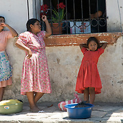 The front of the market place in the town of Copan Ruins, Honduras. June 2009.  (Photo/William Byrne Drumm)