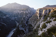 Canyon du Verdon at sunset.