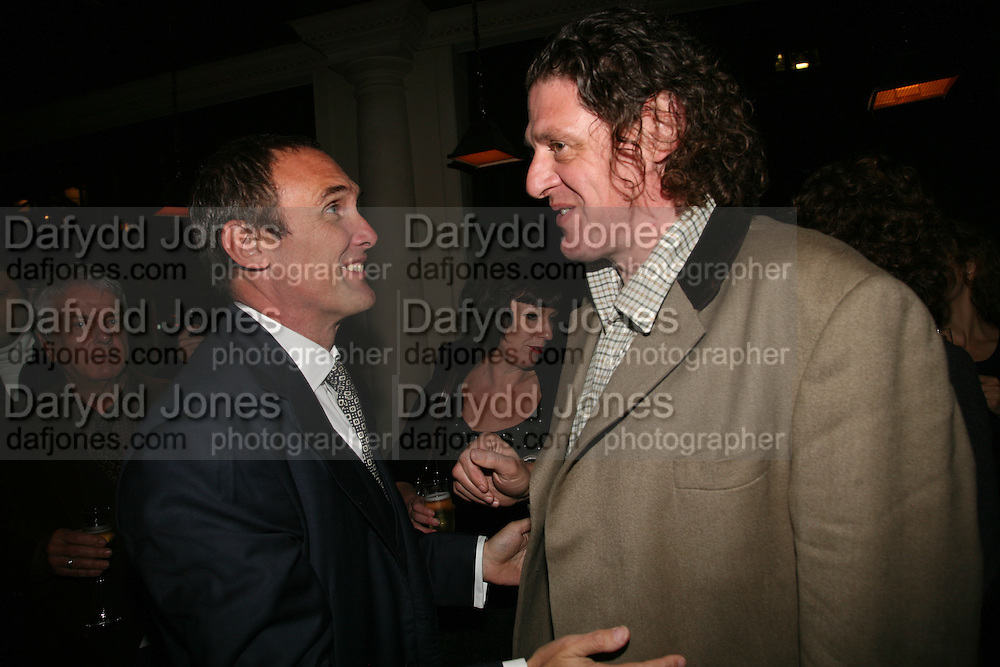 A.A. Gill and Marco Pierre White, A A Gill party to celebrate the  publication of Table Talk, a collection of his reviews. Hosted by Marco Pierre White at <br />Luciano, 72 St James's Street, London,. 22 October 2007, -DO NOT ARCHIVE-© Copyright Photograph by Dafydd Jones. 248 Clapham Rd. London SW9 0PZ. Tel 0207 820 0771. www.dafjones.com.