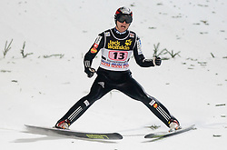 Jernej Damjan of Slovenia competes during Final round of the FIS Ski Jumping World Cup event of the 58th Four Hills ski jumping tournament, on January 6, 2010 in Bischofshofen, Austria. (Photo by Vid Ponikvar / Sportida)