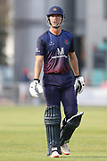 Lancashires Dane Vilas (Capt) out  during the Royal London 1 Day Cup match between Lancashire County Cricket Club and Worcestershire County Cricket Club at the Emirates, Old Trafford, Manchester, United Kingdom on 17 April 2019.