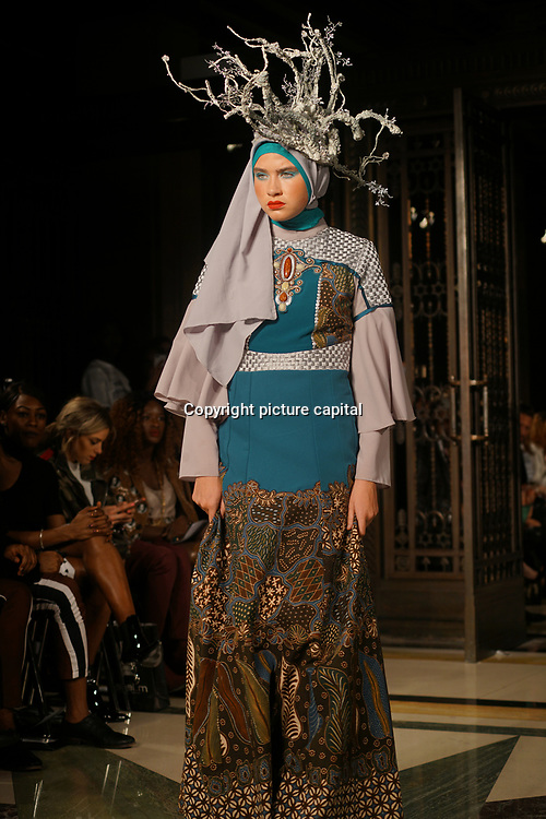 'HOUSE OF MEA'Six designers form Indonesia showcases her latest collection at Fashion Scout AW18 at Freemasons' Hall on 16 Feb 2018, London, UK.