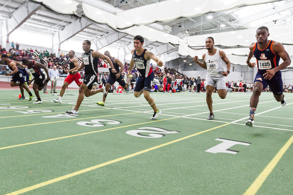 Boston University John Terrier Classic Indoor Track & Field: mens 60m heat 2, Connecticut