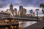 Melbourne Skyline and Southgate Bridge at Dusk