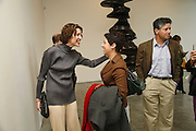 Valeria Napoleone, Ali Silverstein and Peter Soros, Sculptures. Tony Cragg. Lisson Gallery. Bell st. Collectors opening. 15 May 2006.  ONE TIME USE ONLY - DO NOT ARCHIVE  © Copyright Photograph by Dafydd Jones 66 Stockwell Park Rd. London SW9 0DA Tel 020 7733 0108 www.dafjones.com