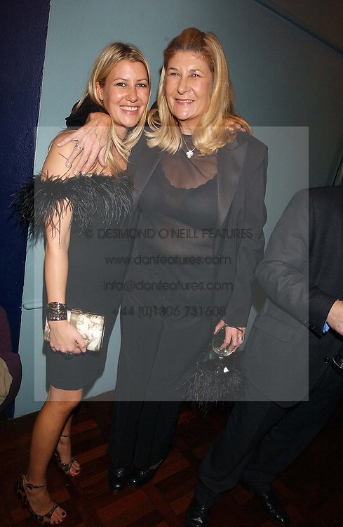 Left to right, SARA BUYS and her mother CAROLINE BUYS at a party to celebrate the publication of 'E is for Eating' by Tom Parker Bowles held at Kensington Place, 201 Kensington Church Street, London W8 on 3rd November 2004.<br /><br />NON EXCLUSIVE - WORLD RIGHTS