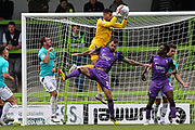 Forest Green Rovers goalkeeper Robert Sanchez(1) claims a cross during the EFL Sky Bet League 2 match between Forest Green Rovers and Port Vale at the New Lawn, Forest Green, United Kingdom on 8 September 2018.